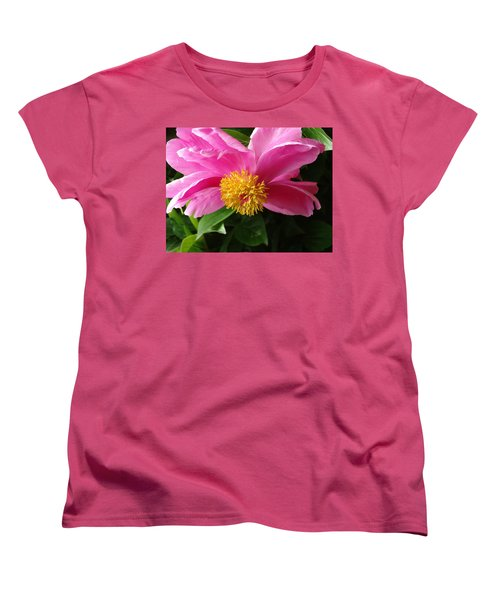 Women's T-Shirt (Standard Cut) featuring the photograph Pink Peony by Rebecca Overton