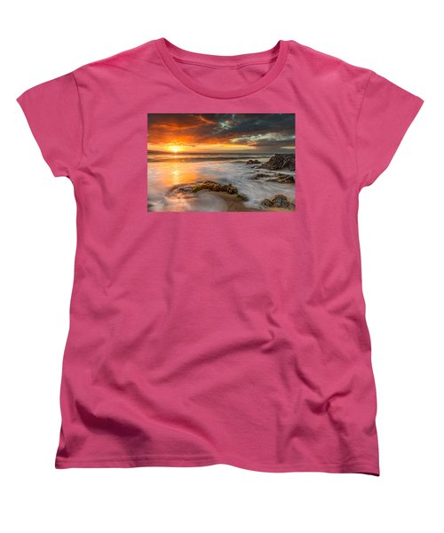 Poolenalena Sunset Women's T-Shirt (Standard Cut) by James Roemmling