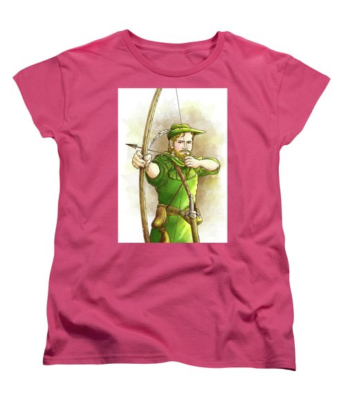 Robin Hood The Legend Women's T-Shirt (Standard Cut) by Reynold Jay