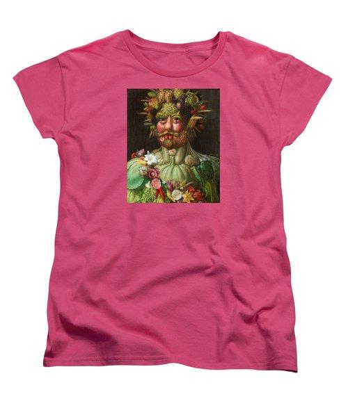 Rudolf II Of Habsburg As Vertumnus Women's T-Shirt (Standard Cut) by Giuseppe Arcimboldo