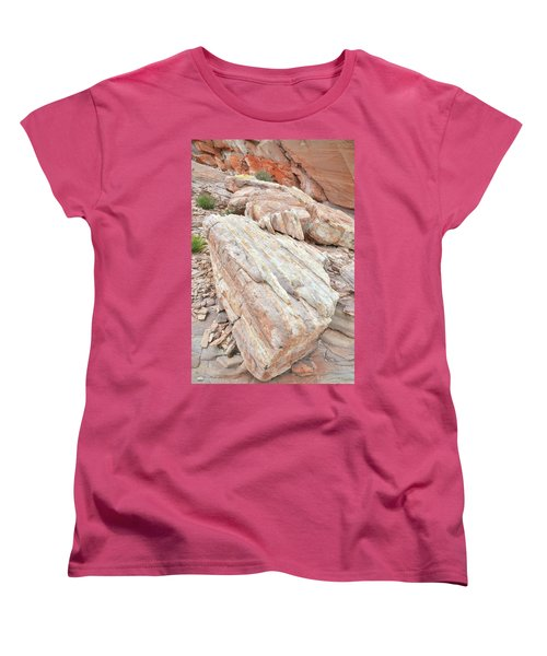 Women's T-Shirt (Standard Cut) featuring the photograph Sandstone Slope In Valley Of Fire by Ray Mathis