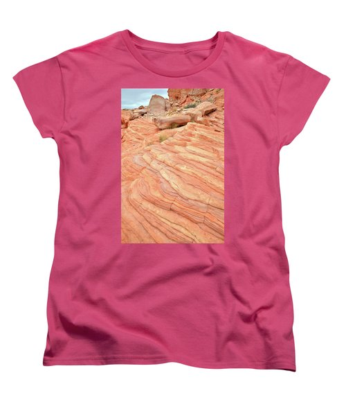 Women's T-Shirt (Standard Cut) featuring the photograph Sandstone Swirls In Valley Of Fire by Ray Mathis