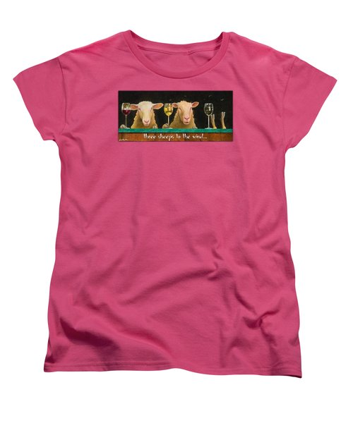Three Sheeps To The Wind... Women's T-Shirt (Standard Cut) by Will Bullas