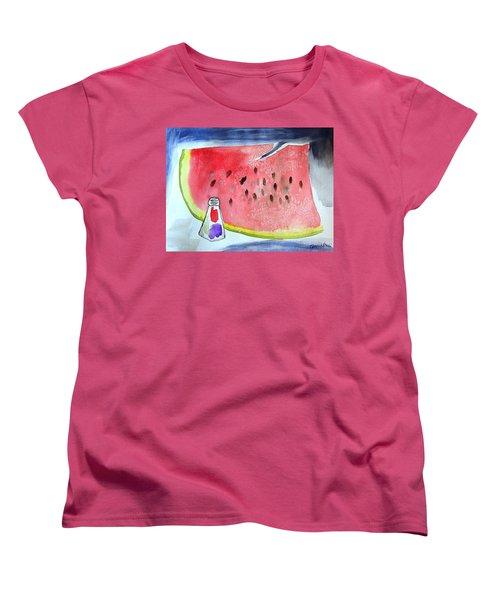 Watermelon Women's T-Shirt (Standard Cut) by Jamie Frier
