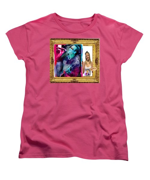 Women's T-Shirt (Standard Cut) featuring the digital art Cover Art For Gallery by Diana Riukas