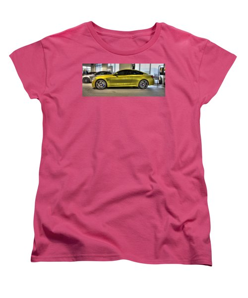 Women's T-Shirt (Standard Cut) featuring the photograph 2015 Bmw M4 by Aaron Berg