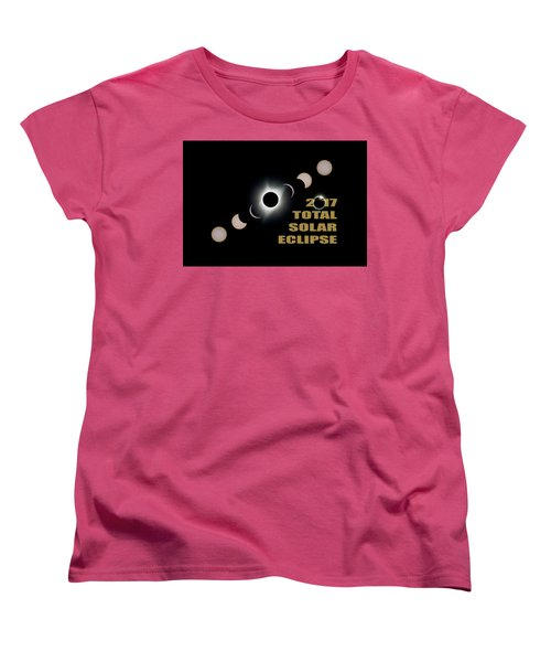 2017 Total Solar Eclipse Phases Women's T-Shirt (Standard Fit)