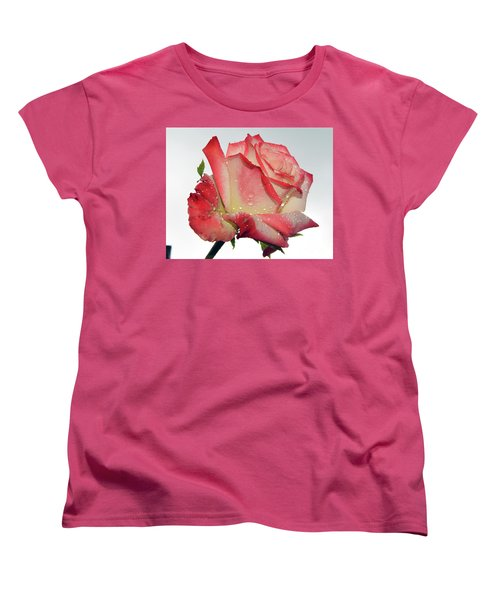 Nice Rose Women's T-Shirt (Standard Cut) by Elvira Ladocki