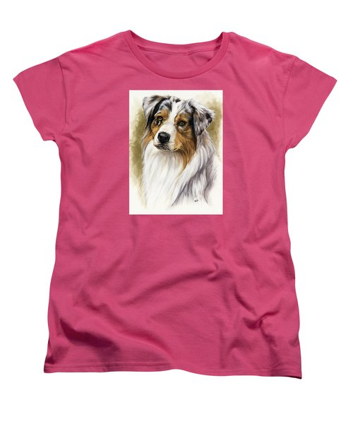 Australian Shepherd Women's T-Shirt (Standard Cut) by Barbara Keith