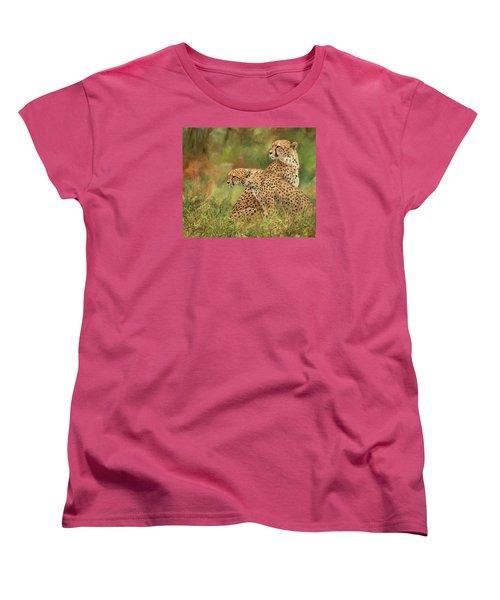 Cheetahs Women's T-Shirt (Standard Cut) by David Stribbling