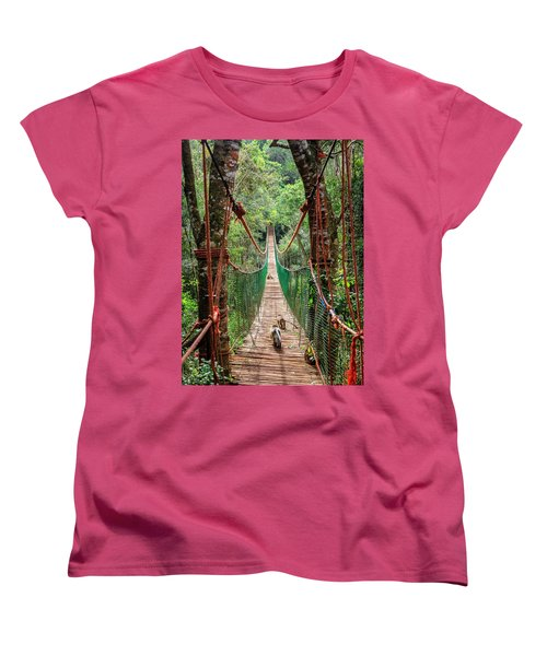 Women's T-Shirt (Standard Cut) featuring the photograph Hanging Bridge by Alexey Stiop