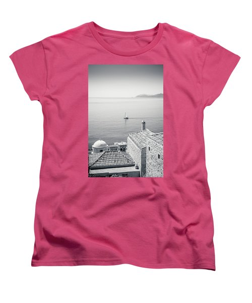 Monemvasia / Greece Women's T-Shirt (Standard Cut) by Stavros Argyropoulos