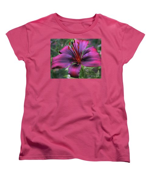Nice Lily Women's T-Shirt (Standard Cut) by Elvira Ladocki