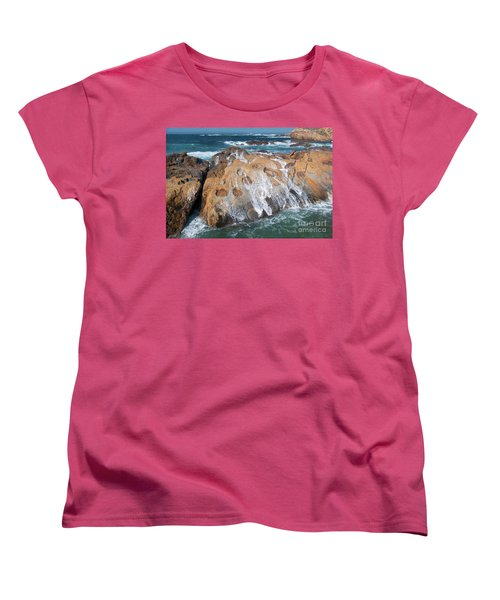 Point Lobos Concretions Women's T-Shirt (Standard Cut) by Glenn Franco Simmons