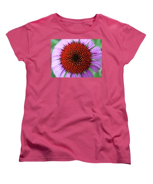 Women's T-Shirt (Standard Cut) featuring the photograph Purple Coneflower  by Rebecca Overton