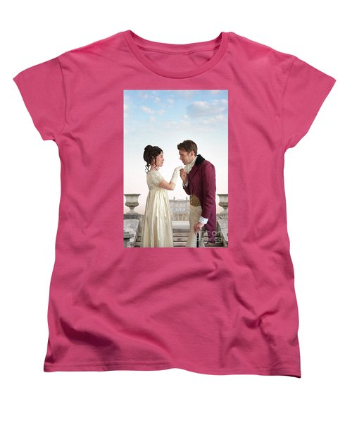 Regency Couple  Women's T-Shirt (Standard Cut) by Lee Avison