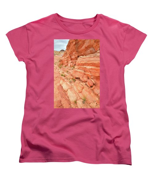 Women's T-Shirt (Standard Cut) featuring the photograph Sandstone Wall In Valley Of Fire by Ray Mathis