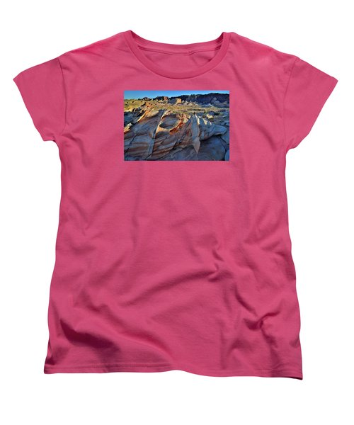 Women's T-Shirt (Standard Cut) featuring the photograph Colorful Sandstone In Valley Of Fire by Ray Mathis