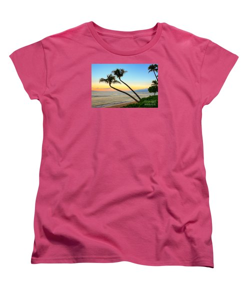 Women's T-Shirt (Standard Cut) featuring the photograph Island Sunrise by Kelly Wade
