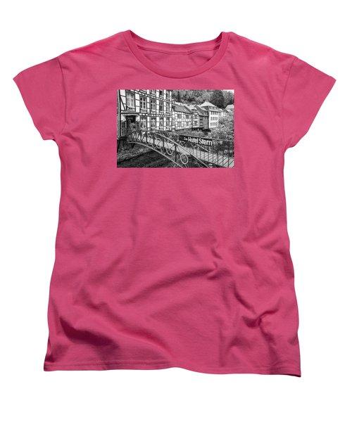 Monschau In Germany Women's T-Shirt (Standard Cut) by Jeremy Lavender Photography