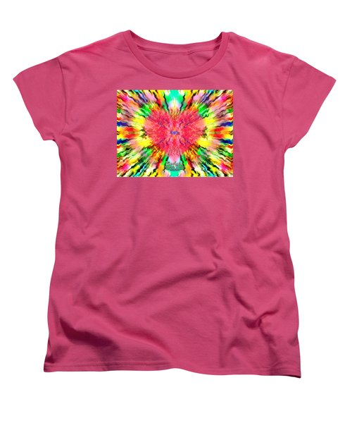 Women's T-Shirt (Standard Cut) featuring the mixed media 444 Loves Vibration by Barbara Tristan