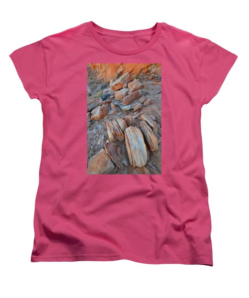 Women's T-Shirt (Standard Cut) featuring the photograph Colorful Cove In Valley Of Fire by Ray Mathis