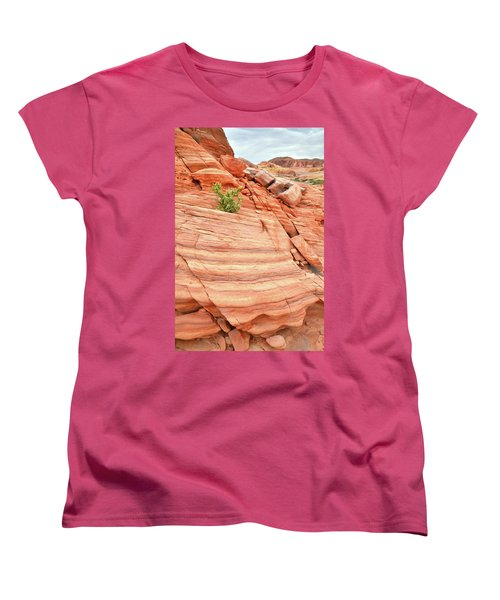 Women's T-Shirt (Standard Cut) featuring the photograph Colorful Wash In Valley Of Fire by Ray Mathis