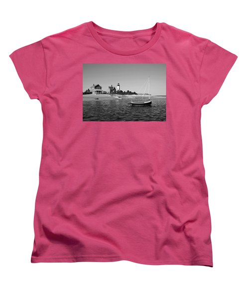 Women's T-Shirt (Standard Cut) featuring the photograph Sandy Neck Lighthouse by Charles Harden