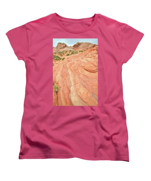 Women's T-Shirt (Standard Cut) featuring the photograph Wave Of Color In Valley Of Fire by Ray Mathis