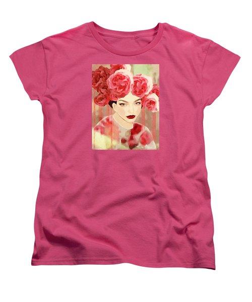 Women's T-Shirt (Standard Cut) featuring the digital art Rose by Lisa Noneman