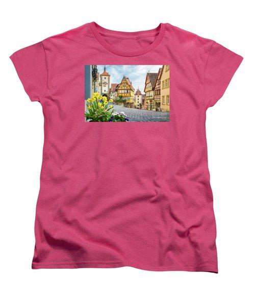 Rothenburg Ob Der Tauber Women's T-Shirt (Standard Cut) by JR Photography