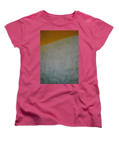 Women's T-Shirt (Standard Cut) featuring the painting Calm Mind by Kyung Hee Hogg
