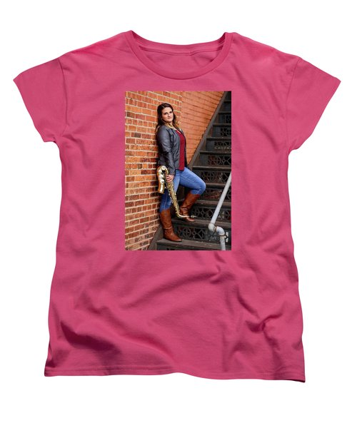 9g5a9460_ee Women's T-Shirt (Standard Cut) by Sylvia Thornton