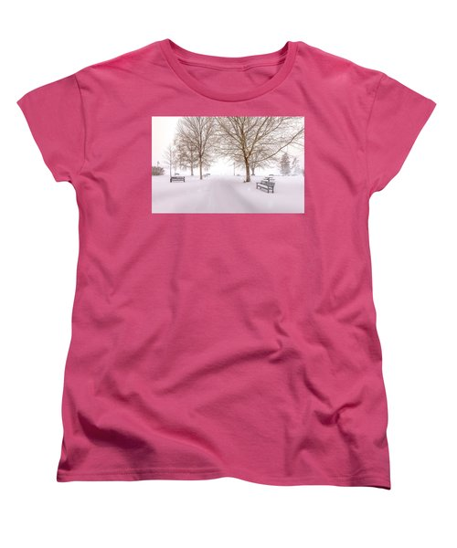 Women's T-Shirt (Standard Cut) featuring the photograph A Beautiful Winter's Morning  by John Poon