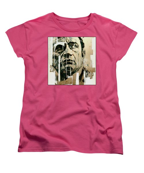 A Boy Named Sue Women's T-Shirt (Standard Cut) by Paul Lovering