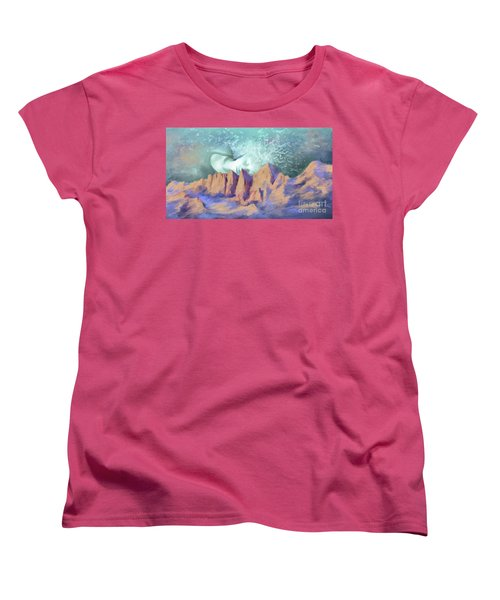 Women's T-Shirt (Standard Cut) featuring the painting A Breath Of Tranquility by S G