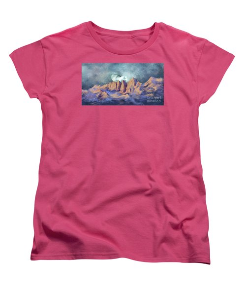 Women's T-Shirt (Standard Cut) featuring the painting A Breath Of Tranquility by Sgn