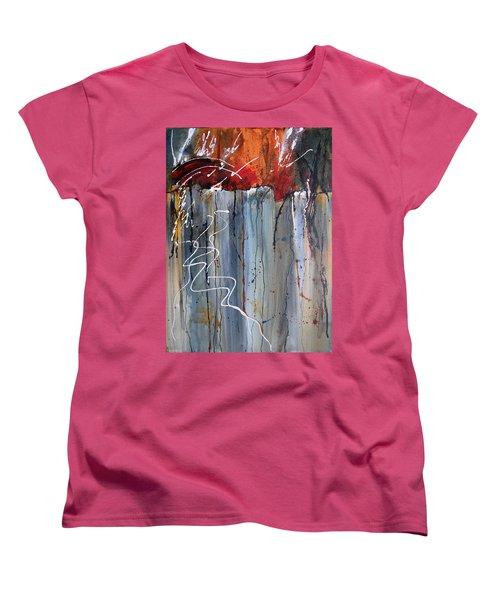 A Burning Issue Women's T-Shirt (Standard Cut) by Nancy Jolley