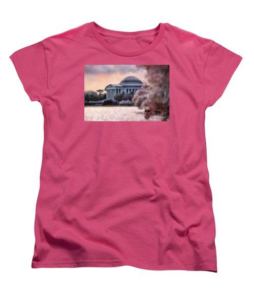 A Cherry Blossom Dawn Women's T-Shirt (Standard Cut) by Lois Bryan