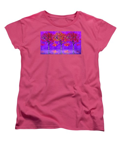 A Colorful Autumn Rainy Day Women's T-Shirt (Standard Cut) by Gabriella Weninger - David