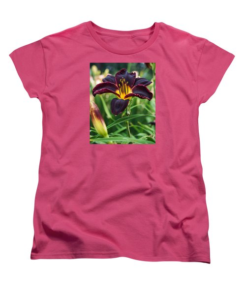 A Dark Purple Tiger Lilly Women's T-Shirt (Standard Cut) by B Wayne Mullins