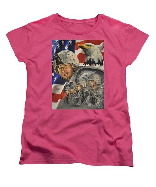 A Day At Work Women's T-Shirt (Standard Cut) by Ken Pridgeon