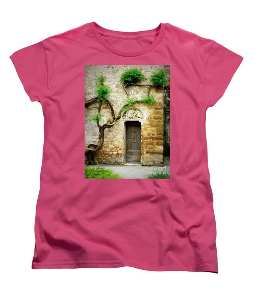 A Door In The Cloister Women's T-Shirt (Standard Cut) by Lainie Wrightson