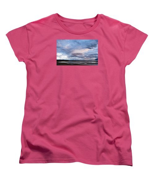 Women's T-Shirt (Standard Cut) featuring the photograph A Dry Jackson Lake by Monte Stevens