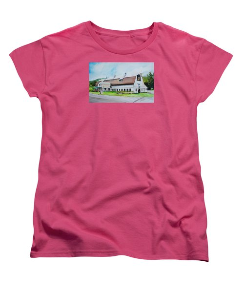 A Farmstand  In The Berkshires Women's T-Shirt (Standard Cut) by P Anthony Visco