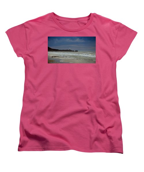 Women's T-Shirt (Standard Cut) featuring the photograph A Guiding Light by Jim Walls PhotoArtist