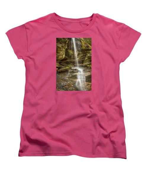 A Look At Window Falls Women's T-Shirt (Standard Cut) by Bob Decker