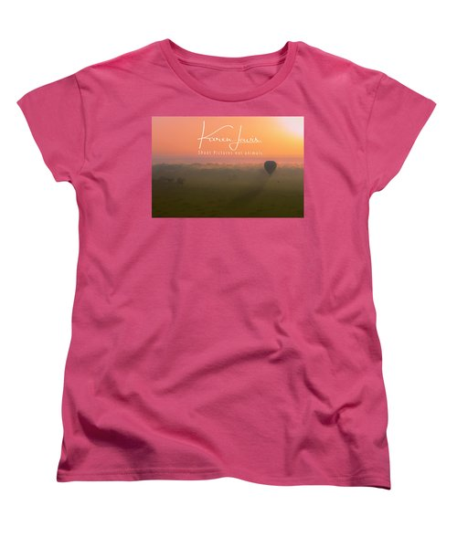 Women's T-Shirt (Standard Cut) featuring the mixed media A Mara Morn by Karen Lewis