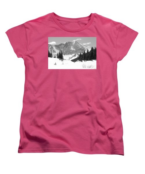 Women's T-Shirt (Standard Cut) featuring the photograph A Mountain Is A Buddha by Eric Glaser