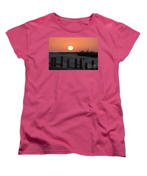 A November Sunset Scene Women's T-Shirt (Standard Cut) by Arik Baltinester